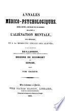 Annales médico psychologiques