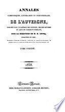 Annales scientifiques, littéraires et industrielles de l'Auvergne