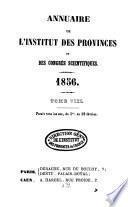 Annuaire de l'Institut des Provinces, des sociétés savantes et des congrès scientifiques