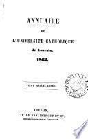 Annuaire de l'Université catholique de Louvain ...