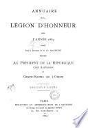 Annuaire de la légion d'honneur