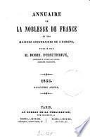 Annuaire de la noblesse de France et des maisons souveraines de l'Europe