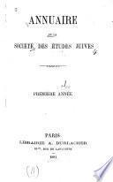Annuaire de la Société des études juives