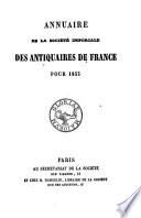 Annuaire de la Société nationale des antiquaires de France pour ...