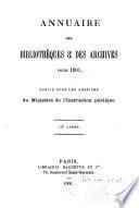 Annuaire des bibliothèques et des archives