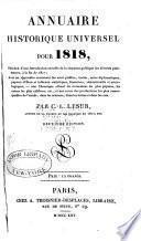 Annuaire historique, ou, Histoire politique et littéraire