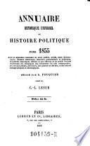 Annuaire historique, ou histoire politique et litteraire ... par C(harles) l(ouis) Lesur