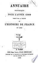 Annuaire historique pour l'année ....