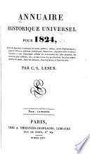 Annuaire historique universel