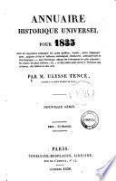 Annuaire historique universel, pour ... par C. L. Lesur. - 1819-1830; n. s. 1831-1839