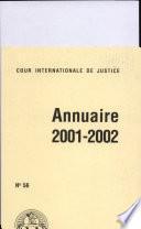 Annuaire ICJ 2001-2002