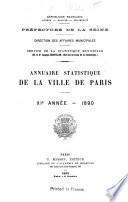 Annuaire statistique de la ville de Paris