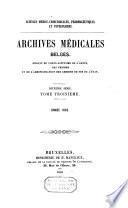 Archives belges de médecine militaire