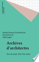Archives d'architectes