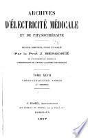 Archives d'électricité médicale