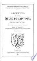 Archives de l'ancien évêche de Saint-Pons