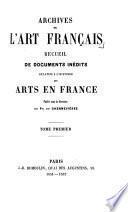 Archives de l'art français: Archives de l'art français