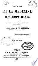 Archives de la médecine homoeopathique