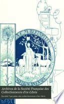 Archives de la Société des collectionneurs d'ex-libris et de reliures artistiques