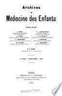 Archives de médecine des enfants