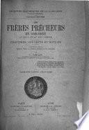 Archives historiques de la Gascogne: Douais, C. Les frères prêcheurs en Gascogne au XIII et au XIV siècle. 1885
