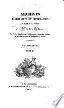 Archives historiques et littéraires du nord de la France, et du midi de la Belgique