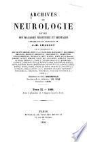 Archives internationale de neurologie, des maladies héréditaires, de médicine mentale et psychosomatique