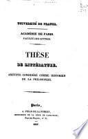 Aristote considéré comme historien de la philosophie
