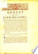 Arrest de la cour des Aydes