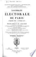 Assemblée électorale de Paris, 2 septembre 1792-17 frimaire an II.