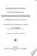 Atti Del ... Congresso Internazionale Dei Matematici ..