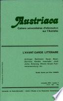 Austriaca, n°7 - L'Avant-garde Littéraire