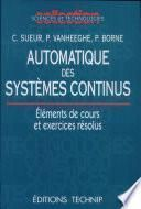 Automatique des systèmes...