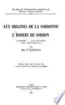 Aux origines de la Sorbonne ...