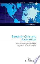 Benjamin Constant, économiste