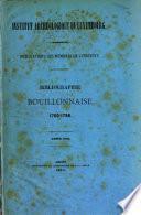 Bibliographie bouillonnaise
