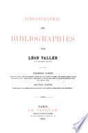 Bibliographie des bibliographies