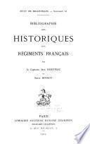 Bibliographie des historiques des régiments francais
