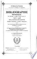 Bibliographie méthodique des ouvrages en langue française parus de 1543 à 1908, sur la science des comptes