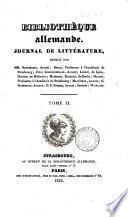Bibliotheque allemande,Journal de Litterature