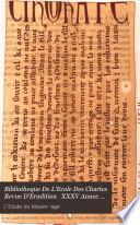 Bibliotheque De L'Ecole Des Chartes Revue D'Erudition   XXXV Annee 1874