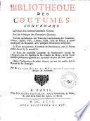 Bibliothèque des coutumes