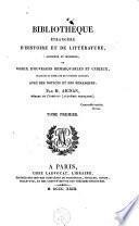 Bibliothèque étrangère d'histoire et de littérature, ancienne et moderne