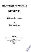 Bibliothèque universelle de Genéve