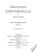 Bibliothèque universelle et revue suisse