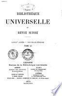 Bibliotheque universelle et revue suisse revue suisse et etrangere