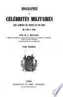 Biographie des célébrités militaires des armées de terre et de mer