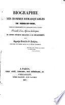 Biographie des hommes remarquables de Seine-et-Oise depuis le commencement de la monarchie jusqu'à ce jour