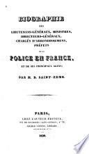 Biographie des lieutenans-généraux