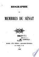 Biographie des Membres du Sénat
